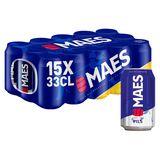 Maes Pils Canettes Maxi Pack 15 x 33 cl