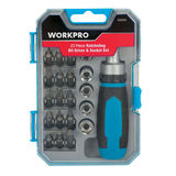 Carrefour Workpro Set ratelsleutels en bits 23 stuks