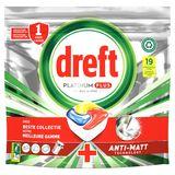 Dreft Platinum Plus All In One Citron Lave-Vaisselle, 19 Capsules