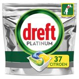 Dreft Platinum All In One Citron Capsules Lave-Vaisselle, 37 Capsules