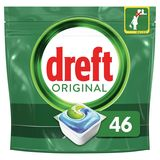 Dreft Original All In One Regular Capsules Lave-Vaisselle, 46 Capsules