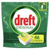 Dreft Original All In One Citron Capsules Lave-Vaisselle, 46 Capsules