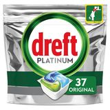 Dreft Platinum All In One Regular Capsules Lave-Vaisselle, 37 Capsules