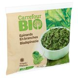 Carrefour Bio Epinards en Branches 600 g
