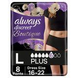 Always Discreet Boutique Broekjes Urineverlies L Lage Taille Zwart x8