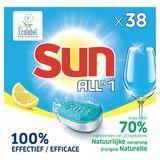 Sun Tout en 1  Tablette lave-vaisselle Citron  38 tabs