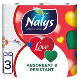 Nalys Love 3 Lagen Keukenpapier 3 Rollen