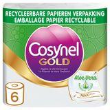 Cosynel Gold Aloe Vera papier toilette 3 épaisseurs 6 rouleaux