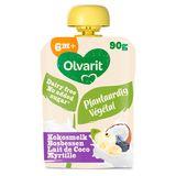 Olvarit smoothie végétal lait de coco myrtille dès 6 mois