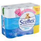 Scottex Complete Clean Décor 24 Rouleaux