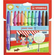 STABILO 12 Feutres de coloriage Pointe XL Power Max