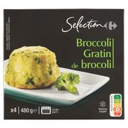 Carrefour Selection Broccoli Gratin 4 x 120 g