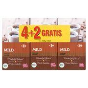 Carrefour Café Moulu Mild Raffiné 4 + 2 Gratis 6 x 250 g