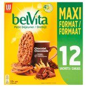 LU BelVita Petit Déjeuner Chocolat Maxi Format 12 Sachets 600 g
