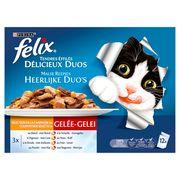 FELIX Kattenvoer Duos met Vlees in Gelei 12 x 100 g