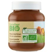 Carrefour Bio Chocopasta met Hazelnoten 350 g