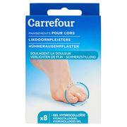 Carrefour Pansements pour Cors Gel Hydrocolloïde x 8
