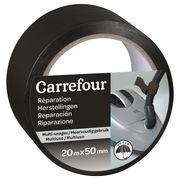 Carrefour Adhésif réparation 20m x 50mm - Noir