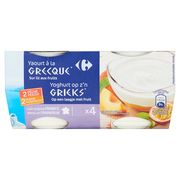 Carrefour Yoghurt op z'n Grieks Perzik Passievrucht 4 x 150 g