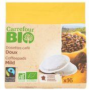 Carrefour Bio Dosettes Café Doux 16 Dosettes 112 g