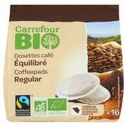 Carrefour Bio 16 Dosettes Café Équilibré 112 g