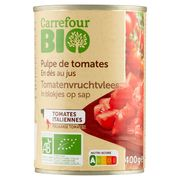 Carrefour Bio Tomates en Cubes Pelées 400 g