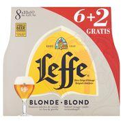 Leffe Bière Belge d'Abbaye Blonde Bouteilles 8 x 33 cl