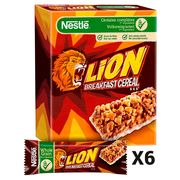 LION Karamel & Chocolade Graanrepen 6 x 25 g