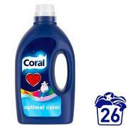Coral Détergent liquide Optimal Color Eclatantes  26 Lavages