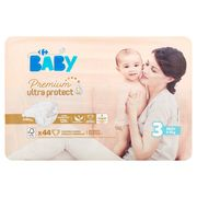 Carrefour Baby Premium Ultra Protect 3 Midi 4-9 kg 44 Luiers