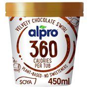 Alpro 360 Kcal Glace avec Sauce Chocolat 450 ml