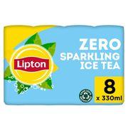 Lipton Iced Tea  Bruisende Ijsthee Original Zero Zonder suiker 8x33cl