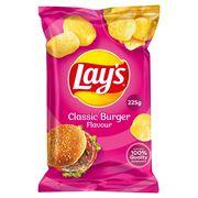 Lay's Chips De Pommes De Terre Classic Burger Flavour 225g