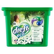 Dreft Eco Ultimate Care 4in1 Caps Fleur Blanche 15 Lavages 15 x 26 g