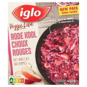 Iglo Veggie Love Choux Rouges aux Pommes 450 g