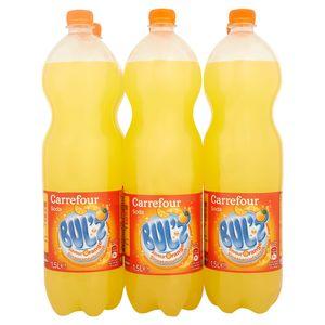 Carrefour Bul'z Soda Saveur Orange 6 x 1.5 L
