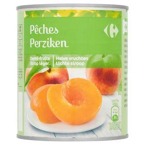 Carrefour Perziken Halve Vruchten Lichte Siroop 820 g