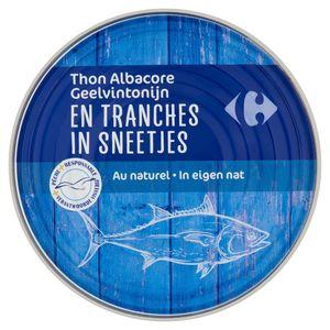 Carrefour Thon Albacore en Tranches au Naturel 400 g