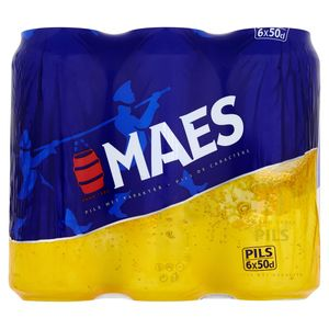 Maes Blond bier Pïls 5.2% ALC Blik 6x50cl