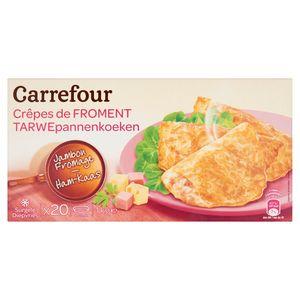 Carrefour Tarwepannenkoeken Ham-Kaas 20 x 50 g