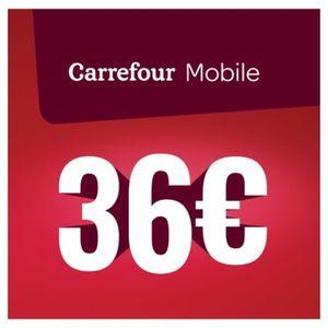 Carrefour - Herlaadkaart Mobile 36 euro