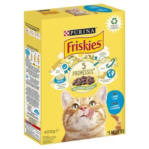 FRISKIES Kattenvoer Adult Zalm en Toegevoegde Groenten 400 g