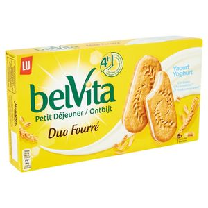 LU BelVita Petit Déjeuner Duo Fourré Yaourt 10 Biscuits 253 g