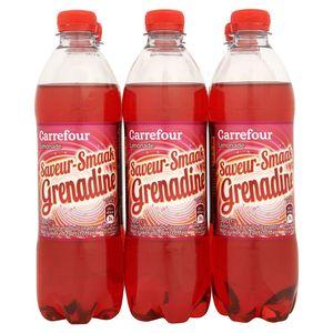 Carrefour Limonade Saveur Grenadine 6 x 50 cl
