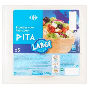 Carrefour Broodjes voor Pita Large 5 Stuks 400 g