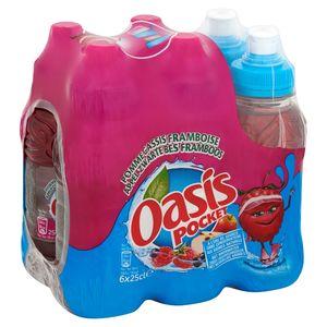 Oasis Pocket Appel Zwarte Bes Framboos 6 x 25 cl