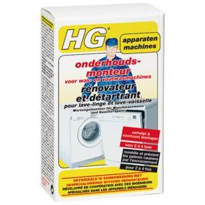 HG Rénovateur et Détartrant Lave-Linge et Lave-Vaisselle 2x100g