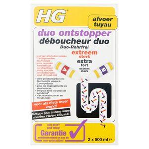 HG Tuyau Déboucheur Duo Extra Fort 2 x 500 ml
