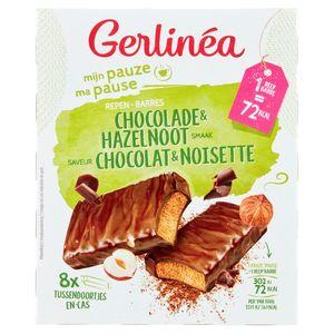 Gerlinéa Ma Pause Barres Saveur Chocolat & Noisette 8 x 20 g