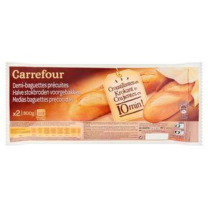 Carrefour Halve Stokbroden Voorgebakken 2 Stuks 300 g